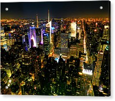 New York - From The Empire State Building 003 Acrylic Print by Lance Vaughn