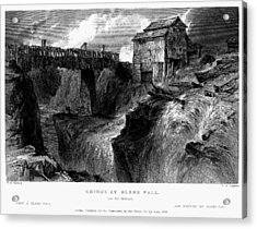 Acrylic Print featuring the painting New York Glens Fall, 1839 by Granger