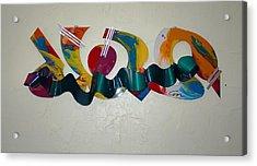 New York Graffiti Acrylic Print by Mac Worthington