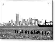 New York Harbor 1990s Acrylic Print by John Rizzuto