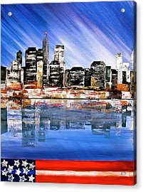 New York Acrylic Print by Heather Matthews
