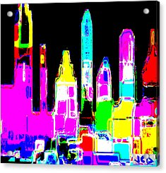 New York Is Rejoicing Acrylic Print by Jean-Claude Delhaise
