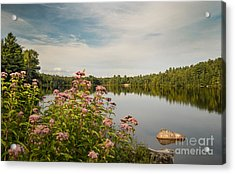 Acrylic Print featuring the photograph New York Lake by Debbie Green