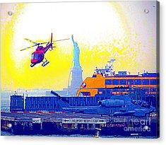 New York Life Acrylic Print by Ed Weidman