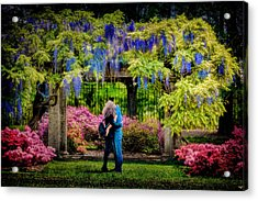 New York Lovers In Springtime Acrylic Print by Chris Lord