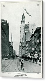 New York  Lower Broadway, Looking North Acrylic Print by Mary Evans Picture Library