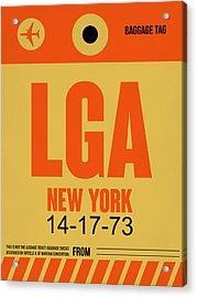 New York Luggage Poster 1 Acrylic Print by Naxart Studio