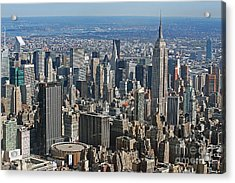New York Manhattan Areal View  Acrylic Print by Lars Ruecker