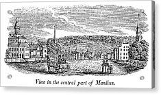 New York Manlius, 1841 Acrylic Print