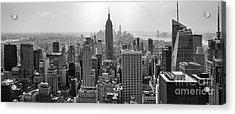 New York Moody Skyline  Acrylic Print by Az Jackson