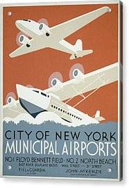 New York Municipal Airport Acrylic Print