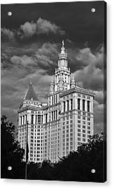 New York Municipal Building - Black And White Acrylic Print