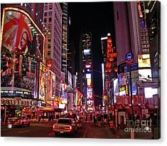 New York New York Acrylic Print by Angela Wright