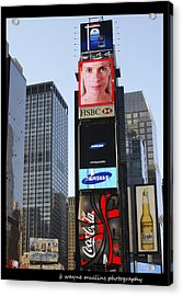 Acrylic Print featuring the photograph New York New York by B Wayne Mullins