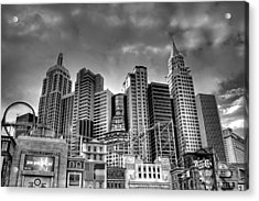 New York New York Black And White Acrylic Print
