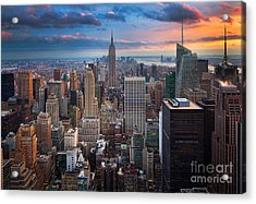 New York New York Acrylic Print by Inge Johnsson