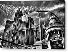 New York New York Las Vegas Acrylic Print by Amy Cicconi
