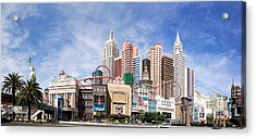 New York New York Las Vegas Acrylic Print by Jane Rix