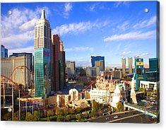 New York New York Las Vegas Nevada Acrylic Print