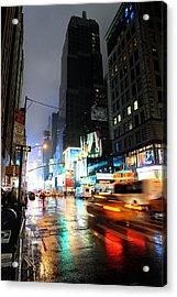 New York Night Acrylic Print by Stephen Richards