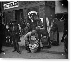 New York Peddlers, C1900 Acrylic Print