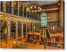 New York Public Library Genealogy Room I Acrylic Print by Clarence Holmes