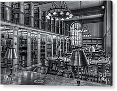 New York Public Library Genealogy Room II Acrylic Print by Clarence Holmes