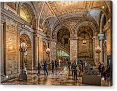 New York Public Library In New York City Acrylic Print