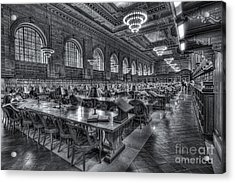 New York Public Library Main Reading Room V Acrylic Print by Clarence Holmes