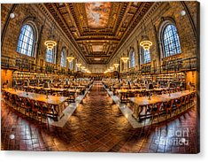 New York Public Library Main Reading Room Vii Acrylic Print