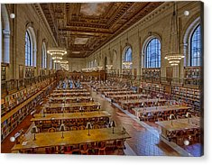 New York Public Library Rose Room  Acrylic Print by Susan Candelario