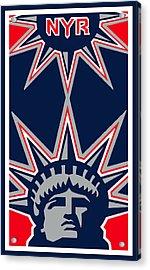 New York Rangers Acrylic Print by Tony Rubino