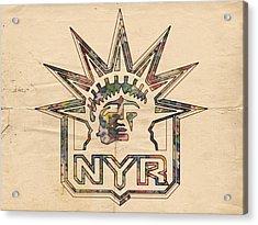 New York Rangers Vintage Poster Acrylic Print