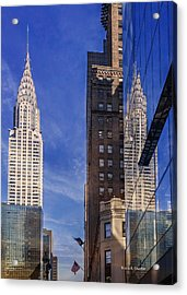 New York Reflections 20 Acrylic Print by Angela A Stanton