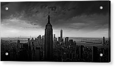 New York Rockefeller View Acrylic Print by Wim Schuurmans