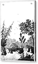 Acrylic Print featuring the painting New York Saw Mill, 1792 by Granger