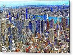 New York Skyline 20130430v3 Acrylic Print by Wingsdomain Art and Photography