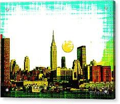 New York Skyline  Acrylic Print by Celestial Images