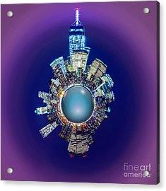 New York Skyline Circagraph Acrylic Print