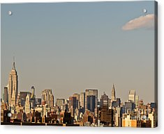 New York City Skyline Acrylic Print by Kerri Farley