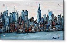 New York Skyline Acrylic Print by Michael  Accorsi