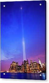 New York Skyline With 11 September Acrylic Print