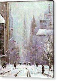 New York Snow Day Acrylic Print