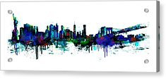New York Spray Acrylic Print