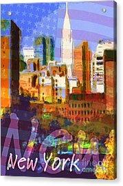 New York Stars Acrylic Print by Lutz Baar
