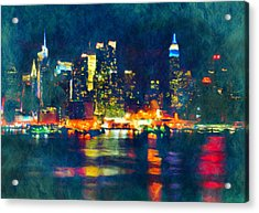 New York State Of Mind Abstract Realism Acrylic Print