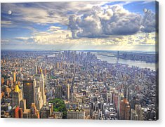 New York State Of Mind Acrylic Print by Mandy Wiltse