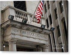 New York Stock Exchange Building Acrylic Print by Amy Cicconi