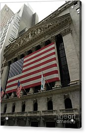 New York Stock Exchange Acrylic Print by David Bearden