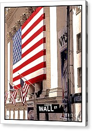 New York Stock Exchange Acrylic Print by Linda  Parker